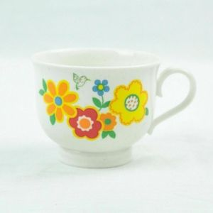 Versatone by Noritake Crazy Quilt Floral Tea Cup